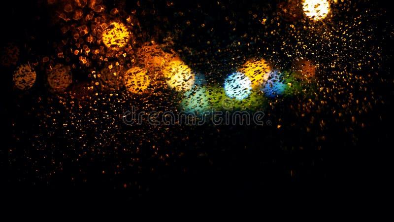 Bokeh Lights Through Rainy Window Free Public Domain Cc0 Image