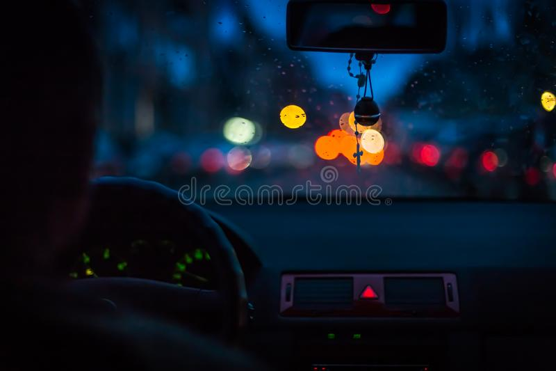 Bokeh lights from traffic on night time for background. Blur imaBokeh lights from traffic on night time for background. Blur image. Bokeh lights from traffic on stock images