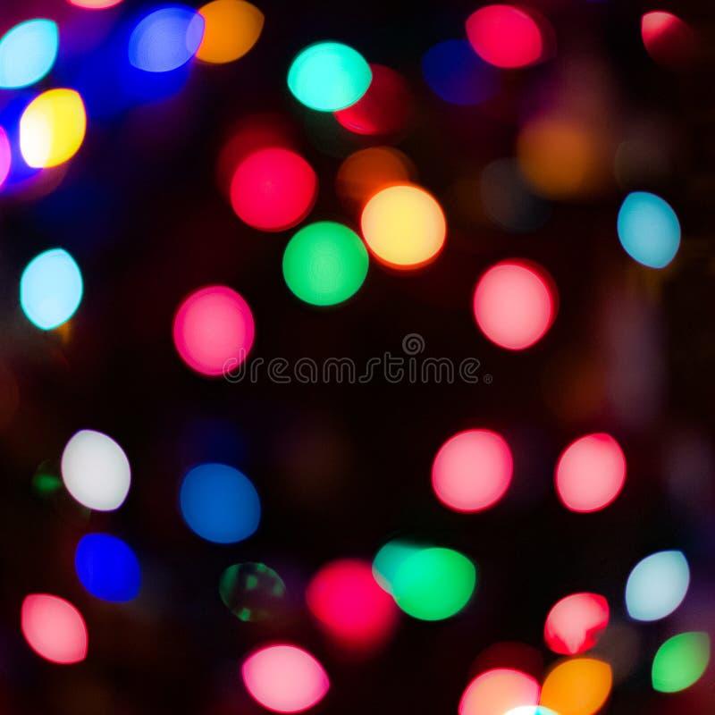 Bokeh ljus på jul arkivfoto