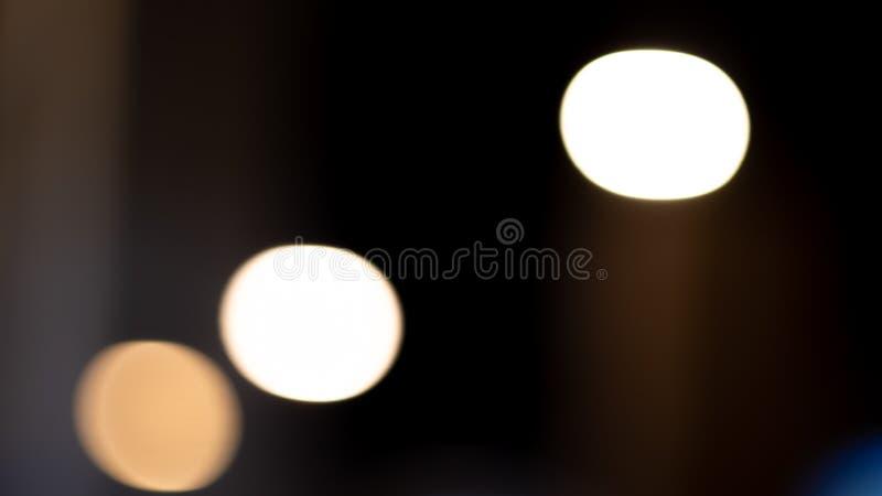 Bokeh ljus på vägen i staden, nattljus i staden, bakgrund för bokeh för gataljus, suddighet av nattljusbokeh på vektor illustrationer