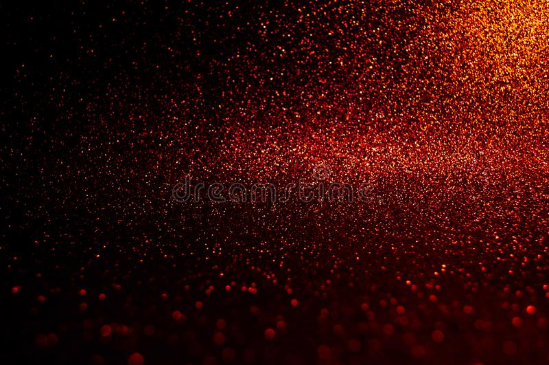 Bokeh mou d'abrégé sur image rouge foncé avec le fond clair Élégance rouge, marron, noire de lumière de nuit de couleur, contexte photo libre de droits