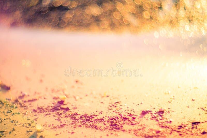 Bokeh mou de bord de la mer de couleurs photographie stock