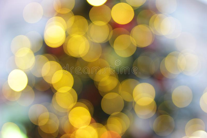 Bokeh with multi-colored blurred lights, royalty free stock image