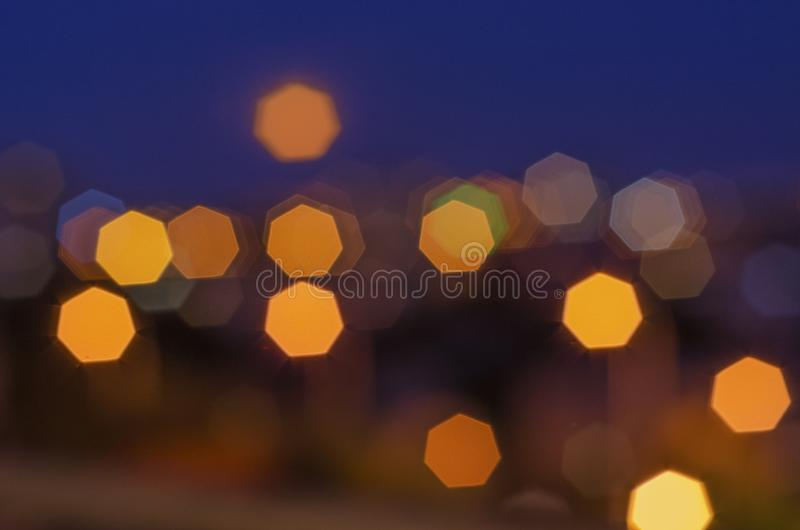 Bokeh of night city lights 11. Bokeh of night city lights Bokeh of night city lights royalty free stock photo