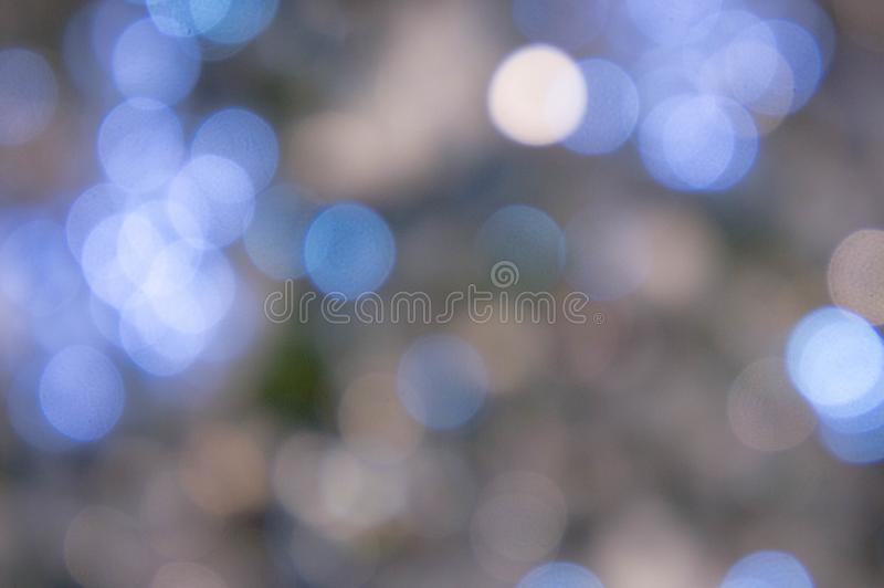 Bokeh night light , party in the night and Festival day, abstract bokeh blue and black color background.  royalty free stock photography
