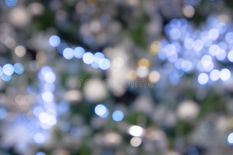 Bokeh night light , party in the night and Festival day, abstract bokeh blue and black color background.  stock photo