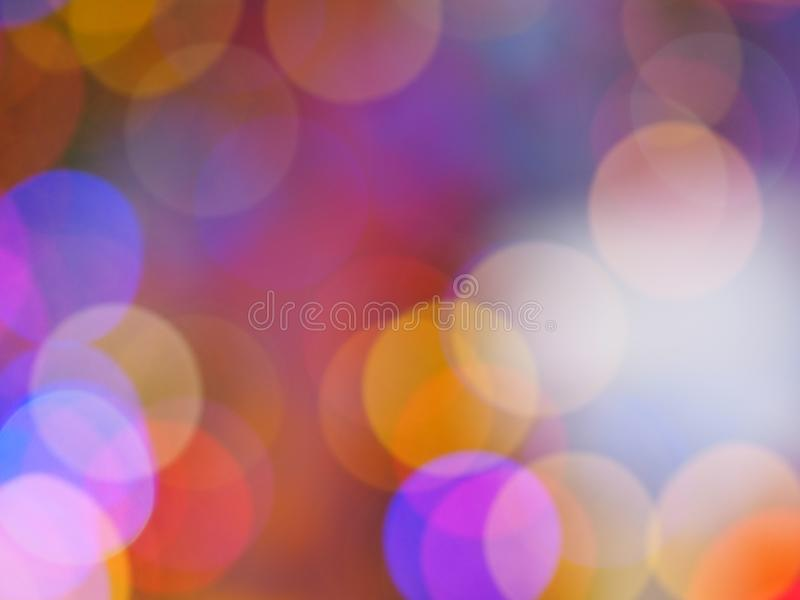 Bokeh from the night lights  Colorful, circular stock image