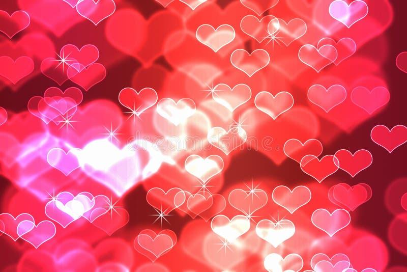 Bokeh no fundo vermelho abstrato do inclinação do ` s do Valentim imagem de stock