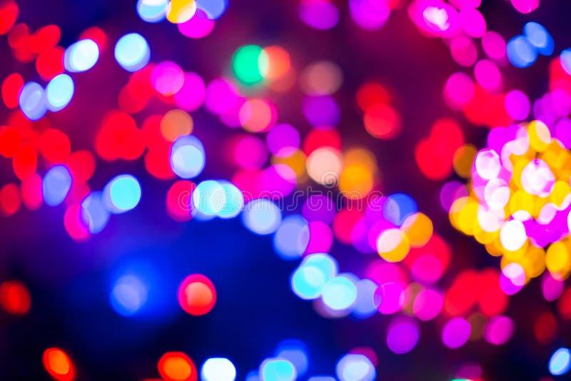 Bokeh o fondo defocused de las luces de la Navidad fotografía de archivo libre de regalías