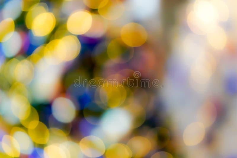 Bokeh obscuro colorido & bonito do c?rculo, fora do fundo do foco no conceito e no tema do Natal fotos de stock