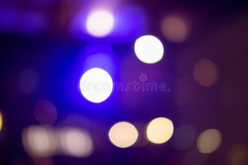 Bokeh op blauwe lichte achtergrond stock fotografie