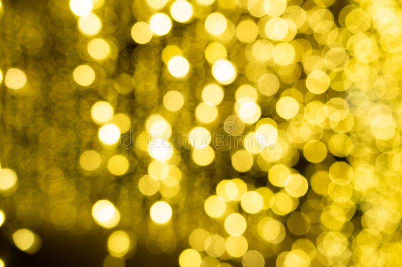 Yellow Bokeh with White Highlights royalty free stock photos