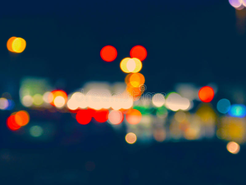 Bokeh på natten royaltyfri fotografi