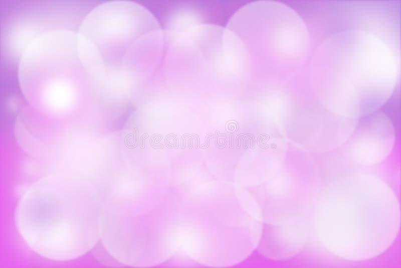 Bokeh púrpura para el fondo ilustración del vector