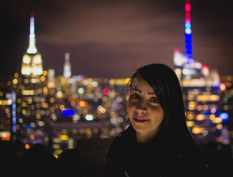 Bokeh Photograph Of Woman During Nighttime Free Public Domain Cc0 Image