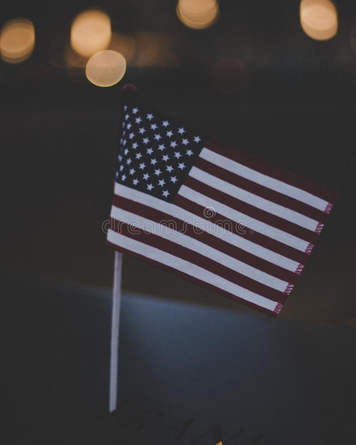 Bokeh Photography Flag of U.s.a. royalty free stock photography