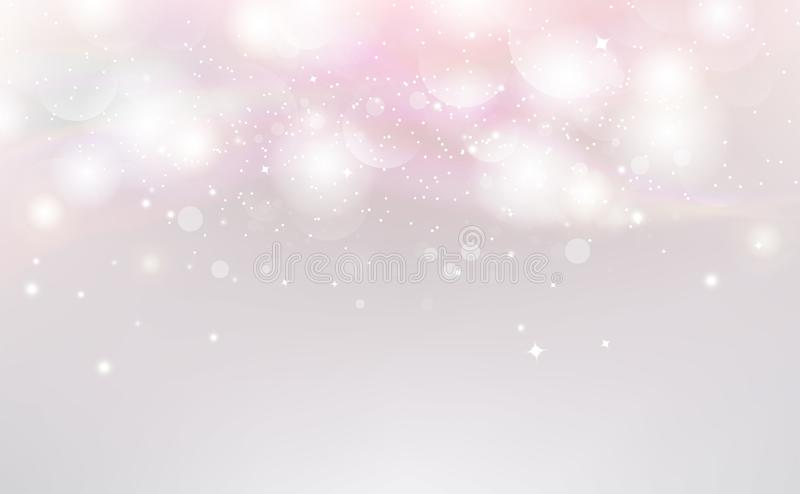 Bokeh pink abstract background vector, decoration and holiday celebration royalty free illustration