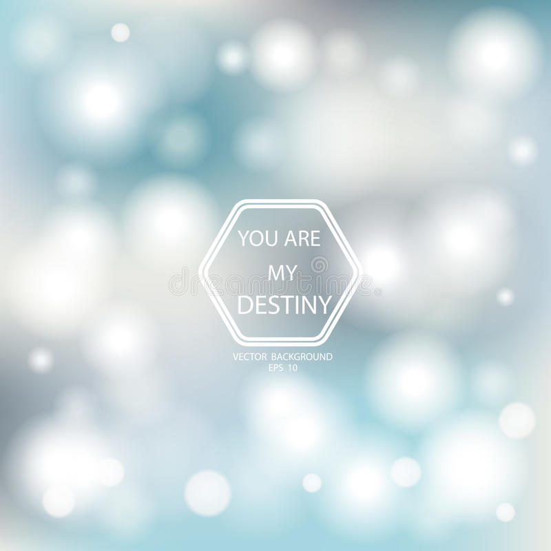 Bokeh Poster With Gradient Mesh Background royalty free stock photos