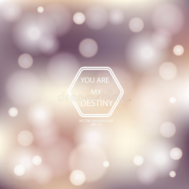 Bokeh Poster With Gradient Mesh Background stock photos