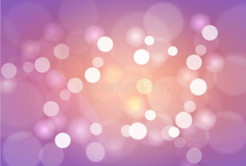 Bokeh protagoniza alrededor y falta de definición como el backgr rosado abstracto y dulce stock de ilustración
