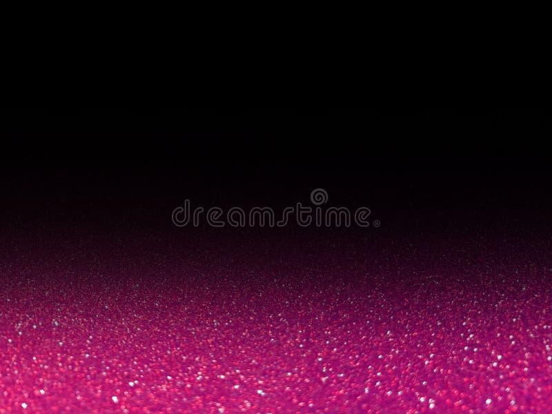 Bokeh różowy błyskotliwy lekki połysk na czerni, różowy iskrzasty luksusowy uroczysty jaskrawy dla tło kosmetyków reklamuje, luks obraz royalty free