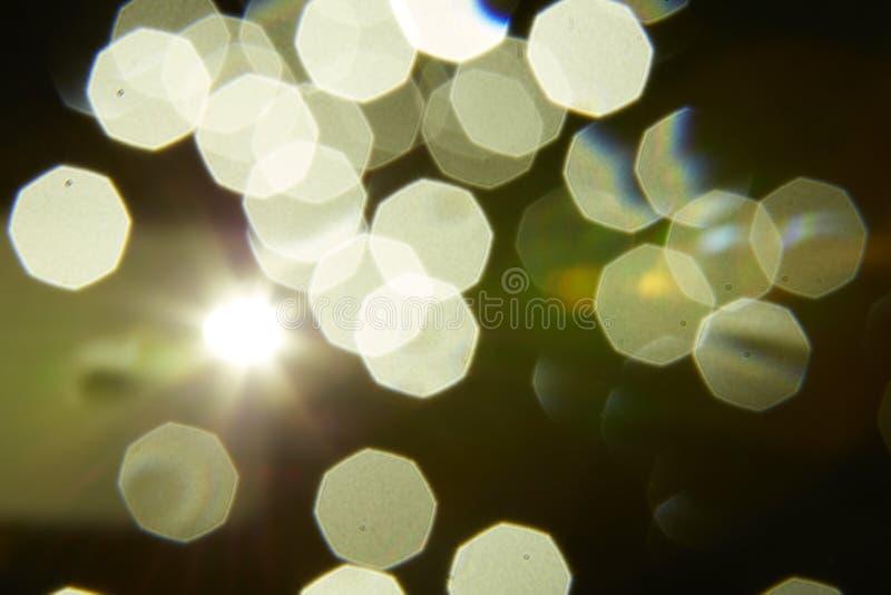 Bokeh a recouvert avec des lumières photos stock