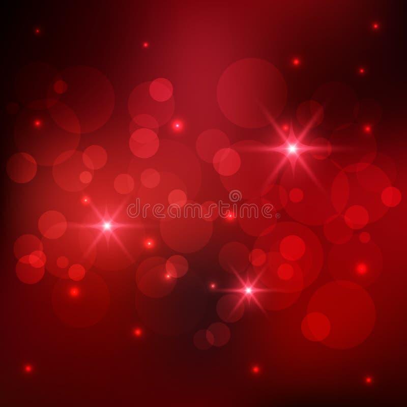Bokeh rode achtergrond royalty-vrije illustratie