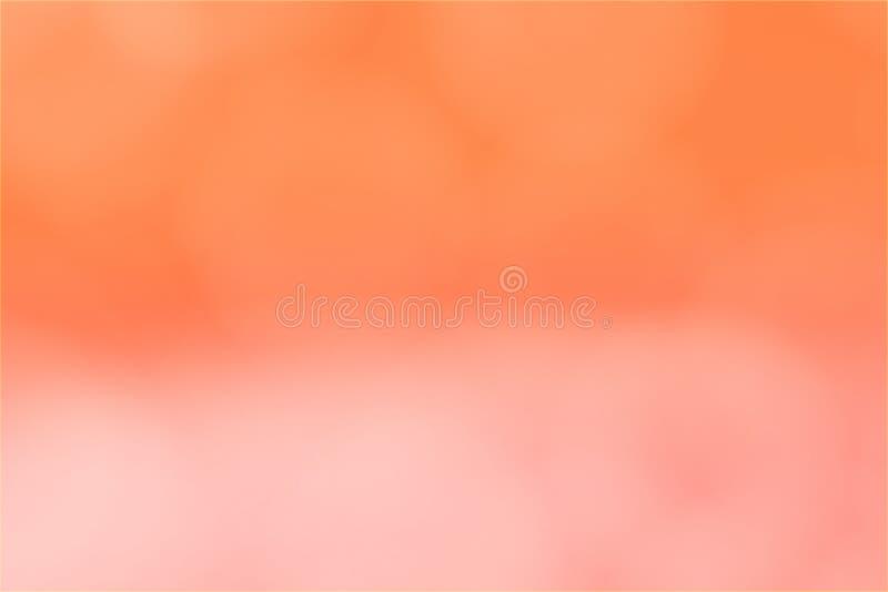Bokeh rosa arancio di pendenza astratta del fondo vago immagine stock
