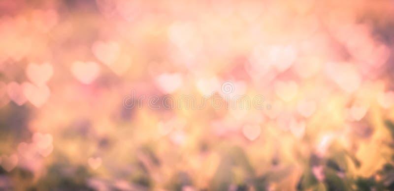 Bokeh rosado del corazón imagen de archivo libre de regalías