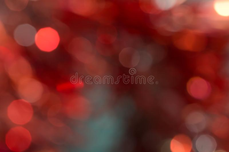 Bokeh rouge et orange de vacances Fond abstrait de Noël photographie stock