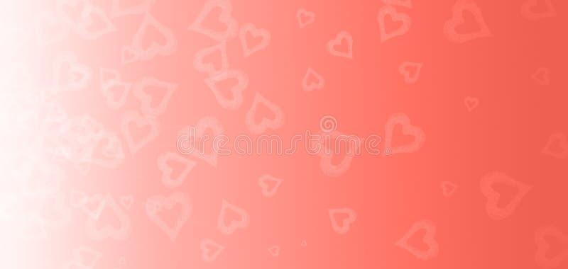 Bokeh serce na różowym tle Walentynka dzień i miłości pojęcie Żywy koralowy temat - kolor rok 2019 zdjęcie stock