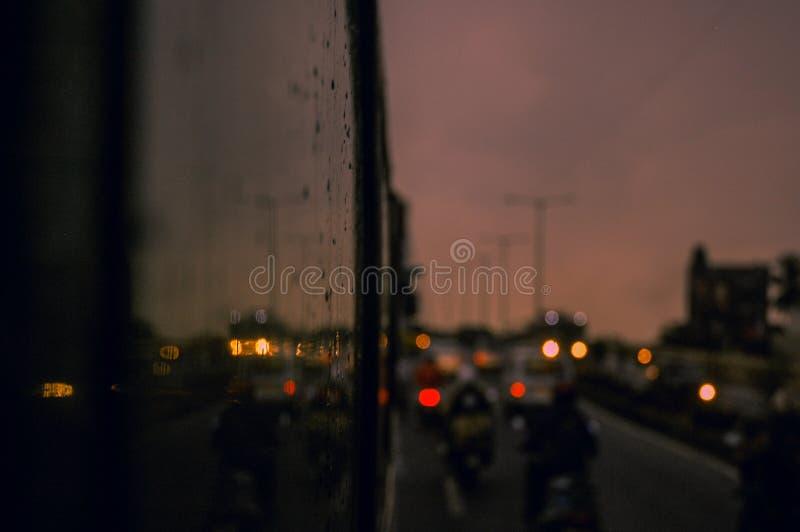 A gloomy evening stock image