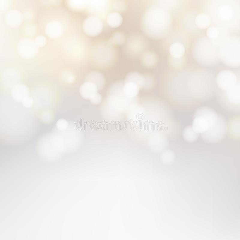 Free Bokeh Silver And White Sparkling Lights Festive Background With Stock Images - 101687014