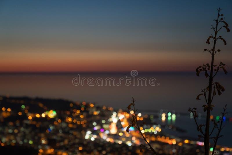 Bokeh-Stadt-Türkei-Pastellfarben lizenzfreies stockbild