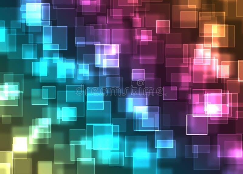 Bokeh steekt patroon aan vector illustratie