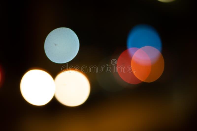 bokeh tänder bakgrund i staden royaltyfri foto
