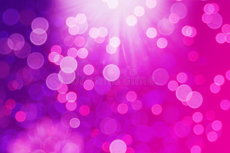 Bokeh tła menchii purpur łuna, okręgi obrazy royalty free