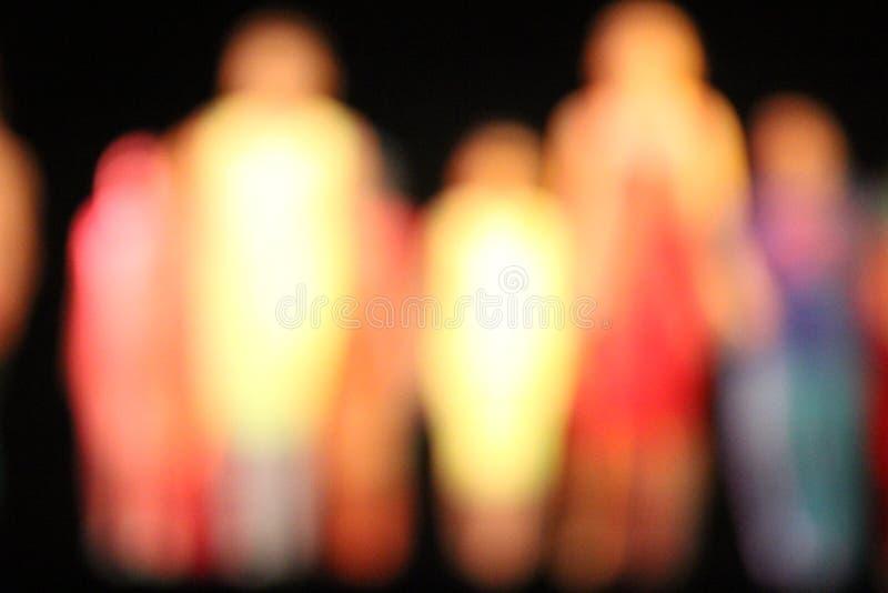 Bokeh tancerze zdjęcia royalty free