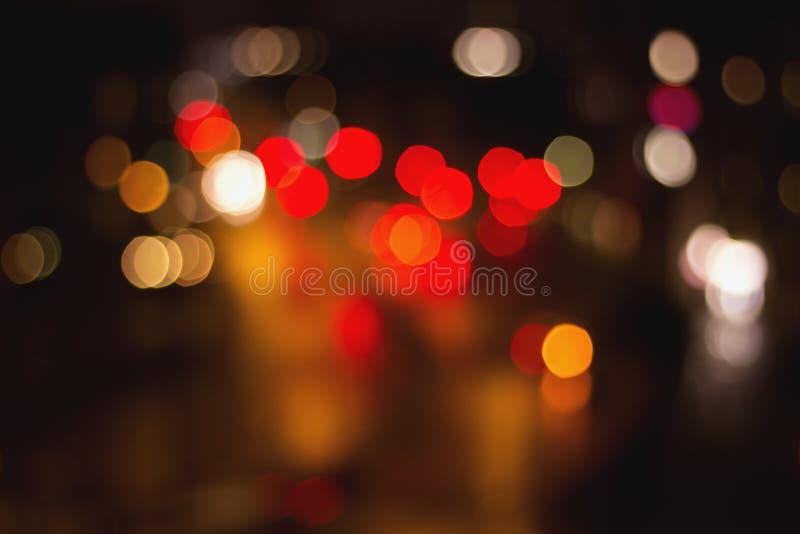 Bokeh ulicy światła ruchu zdjęcie stock