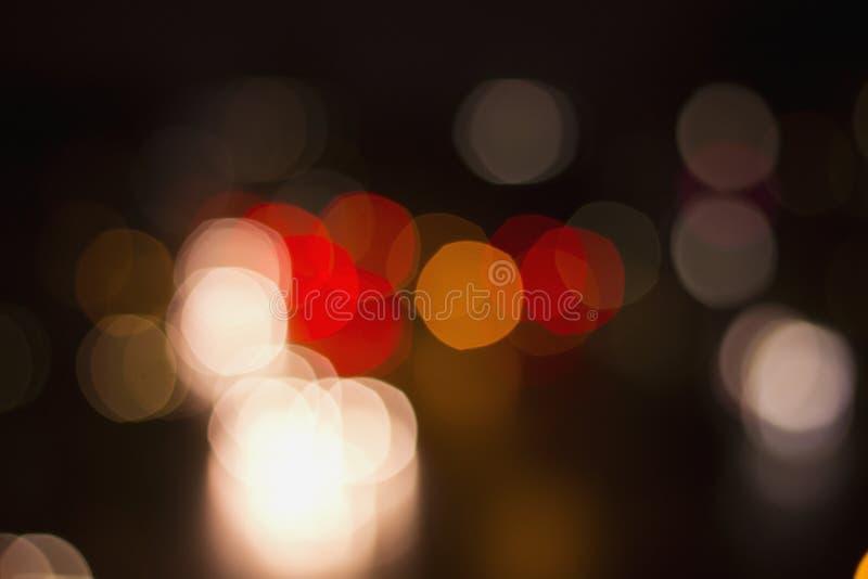 Bokeh ulicy światła ruchu obraz stock