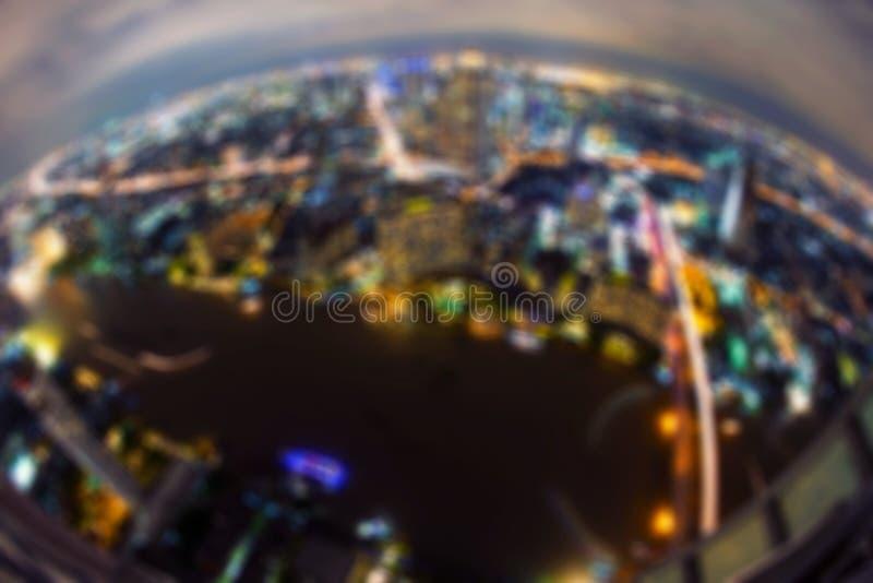Bokeh van gebouwen, de stad van Bangkok, Thailand stock afbeeldingen