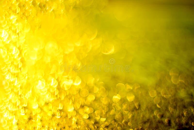 Bokeh van geel en gouden licht royalty-vrije stock afbeelding