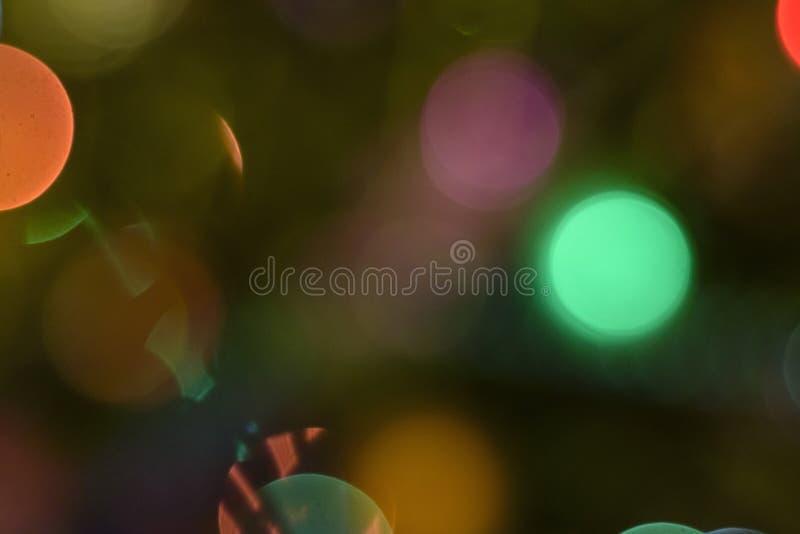 Bokeh variopinto di festa Immagine di sfondo astratta di Natale fotografia stock