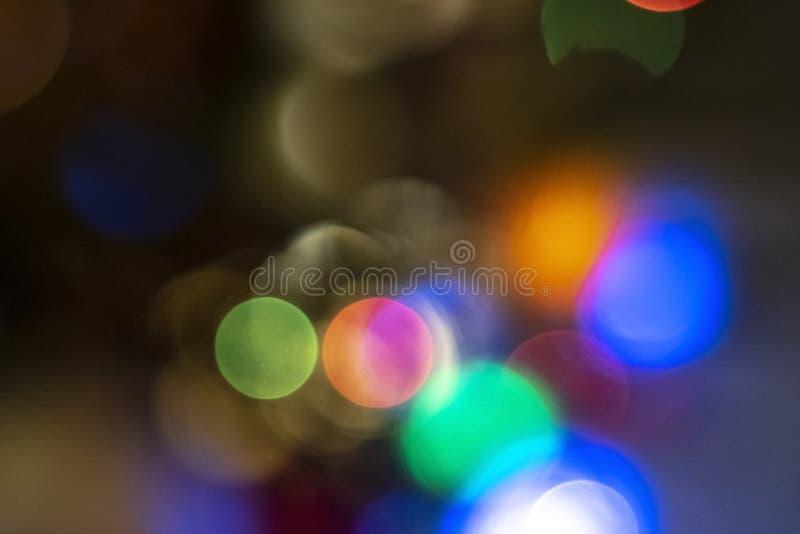 Bokeh variopinto di festa Immagine di sfondo astratta di Natale immagine stock