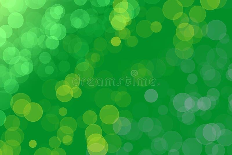 Bokeh verde con il posto per testo royalty illustrazione gratis