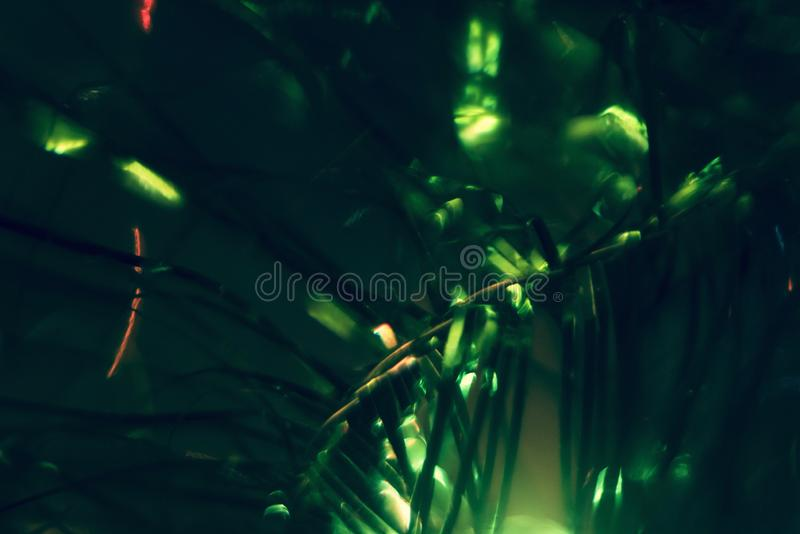 Bokeh verde di festa Immagine di sfondo astratta di Natale immagini stock libere da diritti