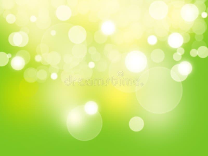 Bokeh verde e fresco del fondo astratto fotografia stock libera da diritti
