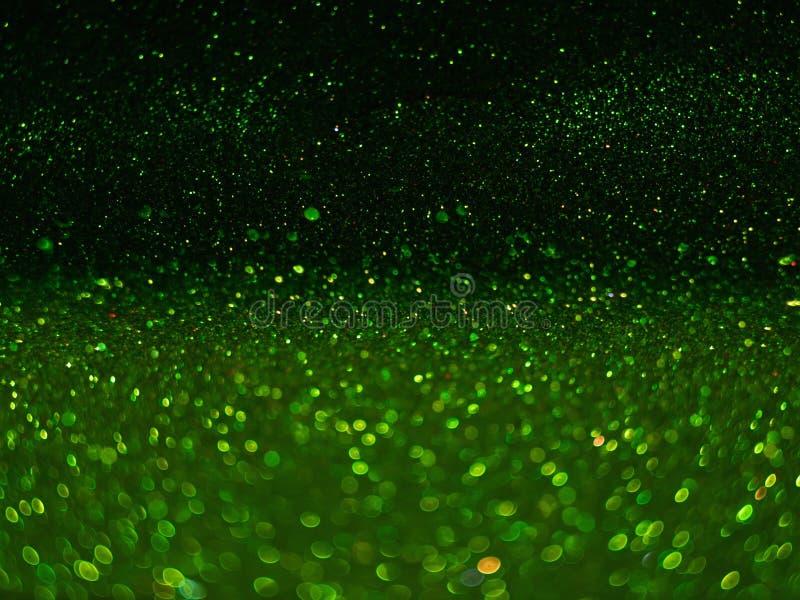 Bokeh vert, lumières defocused abstraites photo stock