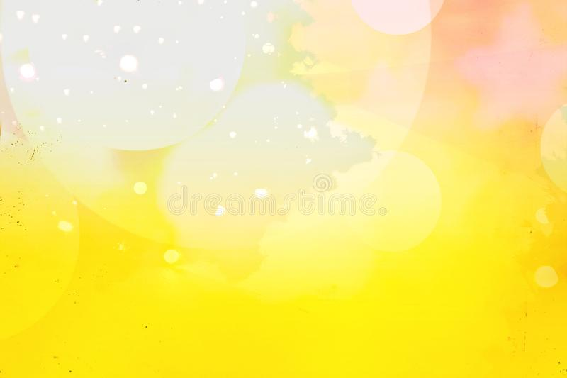 Bokeh of vivid colors and dreaming with christmas tree background. Abstract of blur, dim or drunken style. Unique vivid fantasy stock illustration