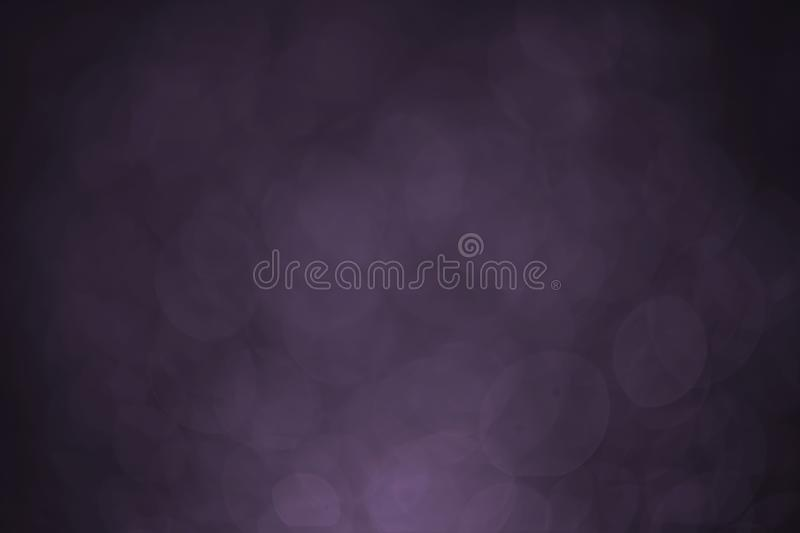 Bokeh water dot tone purple for background. Abstract light dark flare design blue black texture wallpaper holiday bright space macro celebration shiny royalty free stock images